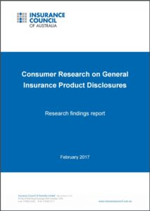Consumer Research on General Insurance Product Disclosures